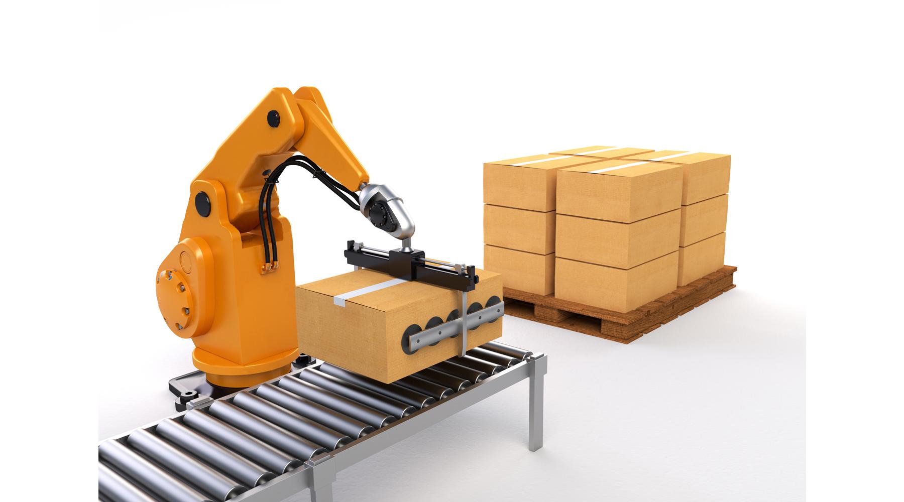 Robot Paletizador para cajas, sacos, contenedores